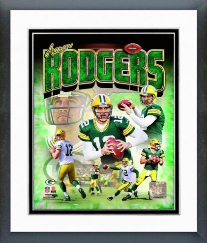 Green Bay Packers Aaron Rodgers Portrait Plus Framed Photo
