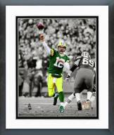 Green Bay Packers Aaron Rodgers Spotlight Action Framed Photo