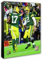 Green Bay Packers Aaron Rodgers & Davante Adams Action Photo