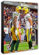 Green Bay Packers Aaron Rodgers & Jermichael Finley Action Photo