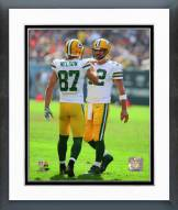 Green Bay Packers Aaron Rodgers & Jordy Nelson Action Framed Photo
