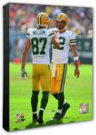 Green Bay Packers Aaron Rodgers & Jordy Nelson Action Photo