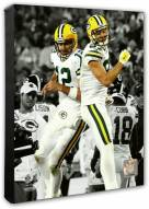 Green Bay Packers Aaron Rodgers & Jordy Nelson Spotlight Action Photo
