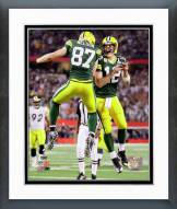 Green Bay Packers Aaron Rodgers & Jordy Nelson Super Bowl XLV Action Framed Photo
