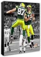 Green Bay Packers Aaron Rodgers & Jordy Nelson Super Bowl XLV Spotlight Action Photo