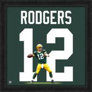 Green Bay Packers Aaron Rodgers NFL Uniframe Framed Jersey Photo