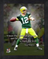 Green Bay Packers Aaron Rodgers Framed Pro Quote
