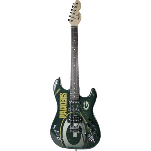 Green Bay Packers Aaron Rodgers Signed Electric Guitar