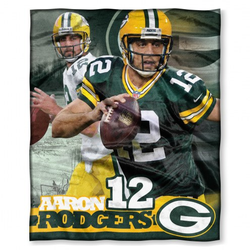 Green Bay Packers Aaron Rodgers Silk Touch Blanket