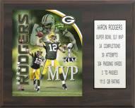 "Green Bay Packers Aaron Rodgers 12"" x 15"" Super Bowl MVP Plaque"