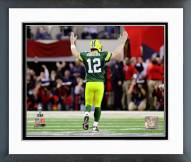 Green Bay Packers Aaron Rodgers Super Bowl XLV Celebration Framed Photo