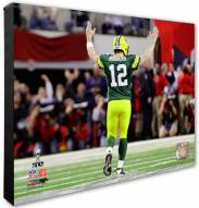 Green Bay Packers Aaron Rodgers Super Bowl XLV Celebration Photo