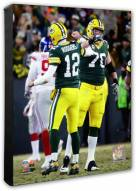 Green Bay Packers Aaron Rodgers & T.J. Lang 2016 NFC Wild Card Game Photo