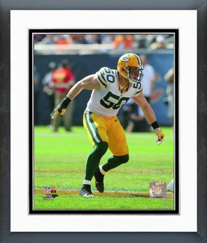 Green Bay Packers A.J. Hawk Action Framed Photo