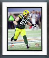 Green Bay Packers A.J. Hawk Super Bowl XLV Action Framed Photo