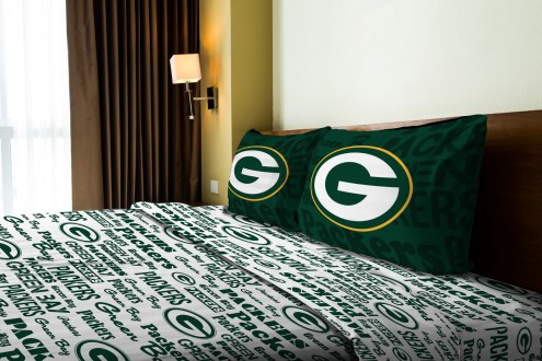Green Bay Packers Anthem Full Bed Sheets