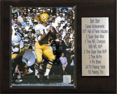"""Green Bay Packers Bart Starr 12 x 15"""" Player Plaque"""