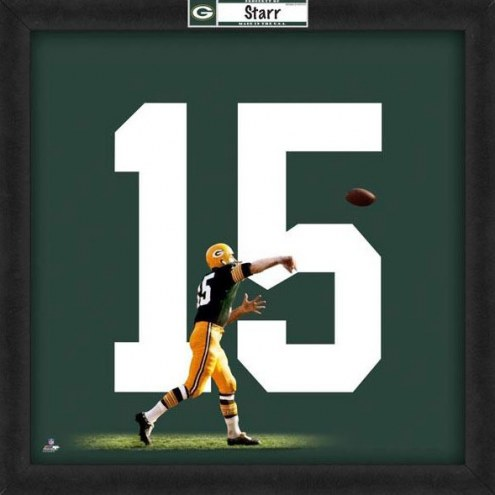 Green Bay Packers Bart Starr Uniframe Framed Jersey Photo