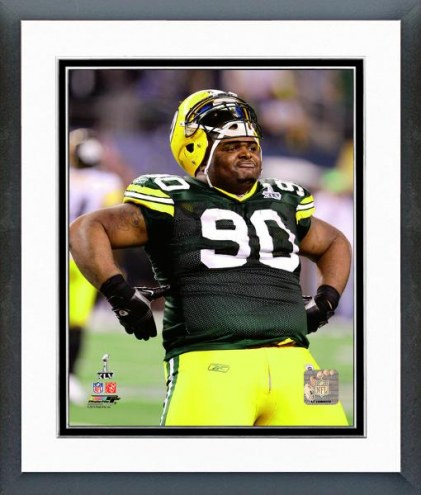 Green Bay Packers B.J. Raji Super Bowl XLV Celebration Framed Photo