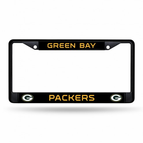 Green Bay Packers Black Metal License Plate Frame