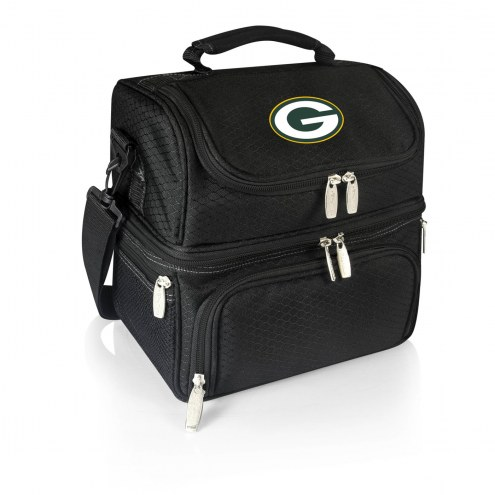 Green Bay Packers Black Pranzo Insulated Lunch Box