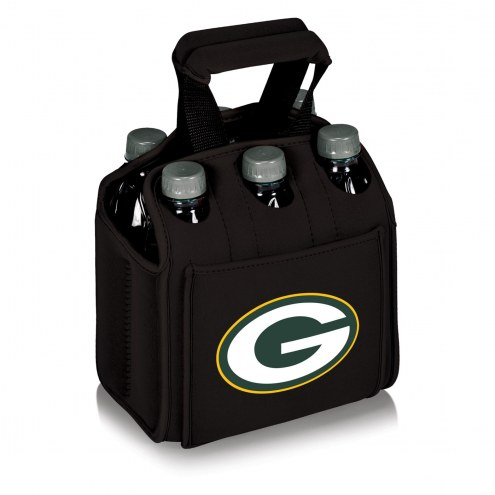 Green Bay Packers Black Six Pack Cooler Tote