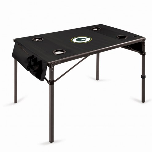 Green Bay Packers Black Travel Table