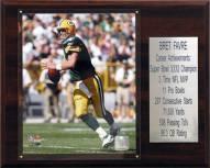 """Green Bay Packers Brett Favre 12"""" x 15"""" Career Stat Plaque"""