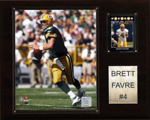 """Green Bay Packers Brett Favre 12 x 15"""" Player Plaque"""