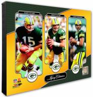 Green Bay Packers Brett Favre, Aaron Rodgers, Bart Starr Legacy Photo