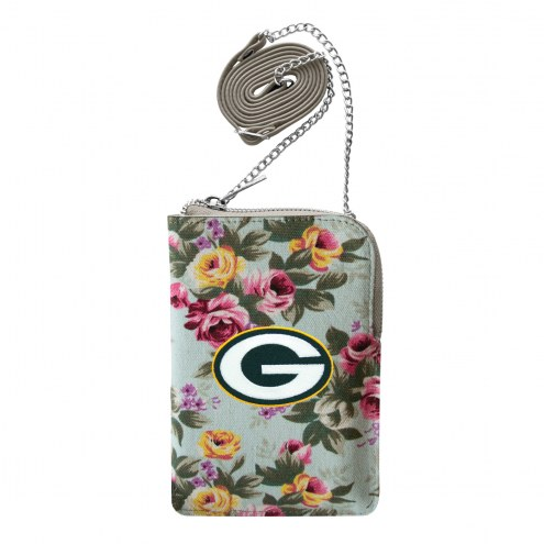 Green Bay Packers Canvas Floral Smart Purse