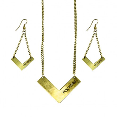 Green Bay Packers Chevron Jewelry Set