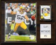 """Green Bay Packers Clay Matthews 12 x 15"""" Player Plaque"""