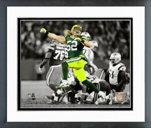 Green Bay Packers Clay Matthews Spotlight Action Framed Photo