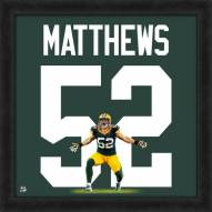 Green Bay Packers Clay Matthews NFL Uniframe Framed Jersey Photo