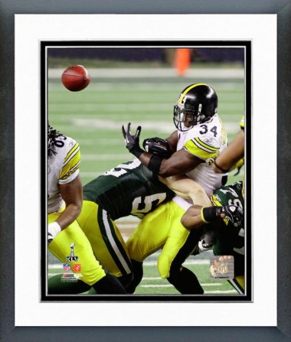 Green Bay Packers Clay Matthews Super Bowl XLV Action Framed Photo