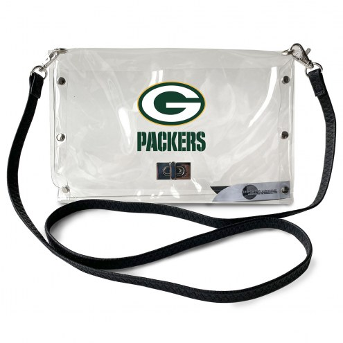 Green Bay Packers Clear Envelope Purse