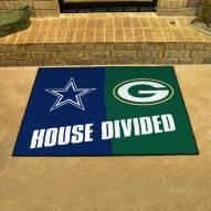 Green Bay Packers/Dallas Cowboys House Divided Mat