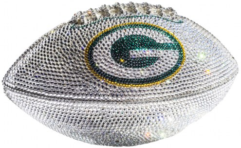 Green Bay Packers Swarovski Crystal Football