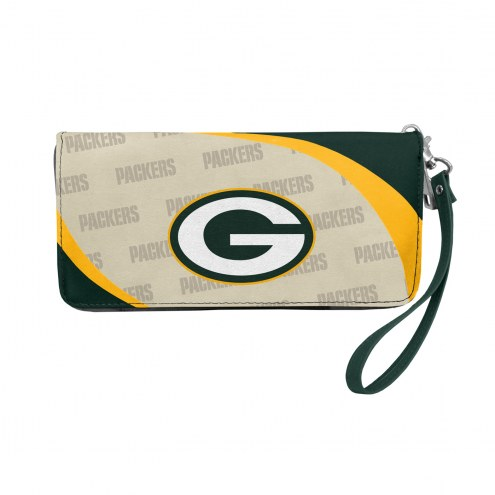 Green Bay Packers Curve Zip Organizer Wallet