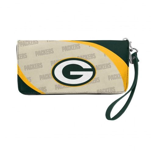 Green Bay Packers Curve Zip Organizer Wallet