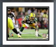 Green Bay Packers Daryn Colledge Super Bowl XLV Action Framed Photo