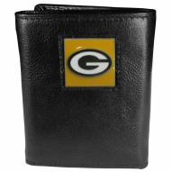 Green Bay Packers Deluxe Leather Tri-fold Wallet in Gift Box