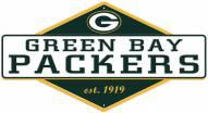 Green Bay Packers Diamond Panel Metal Sign