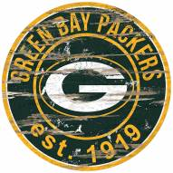 Green Bay Packers Distressed Round Sign