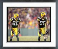 Green Bay Packers Donald Driver & Greg Jennings 2006 Action Framed Photo