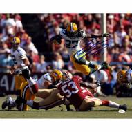 "Green Bay Packers Eddie Lacy Jumping over Players Signed 16"" x 20"" Photo"