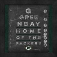 Green Bay Packers Eye Chart