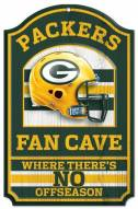 Green Bay Packers Fan Cave Wood Sign