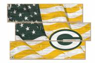 Green Bay Packers Flag 3 Plank Sign